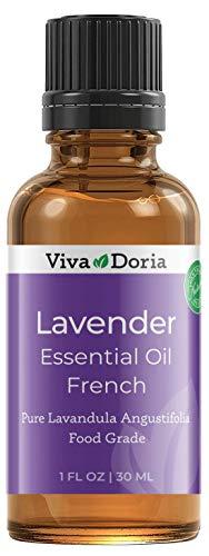 Viva Doria 100% Pure Lavender French Essential Oil, Undiluted, Food Grade, 30 mL (1 Fluid Ounce)