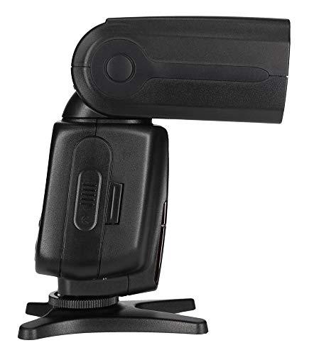Rollei Pro Flash Unit 56F for Canon / Nikon - Flash inalámbrico profesional con TTL, Manual-, maestro / esclavo y el modo de luz estroboscópica - Número de Guía 56 - Negro