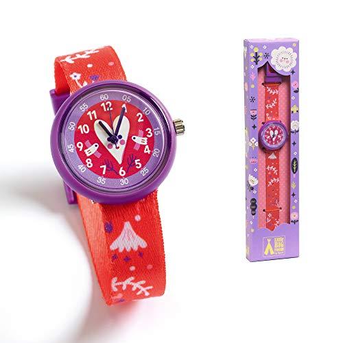 DJECO ジェコ ウォッチ ハート 【DD00421】 子ども用 時計 腕時計 ウォッチ ハート 赤 女の子 男の子 2歳 かわいい おしゃれ プレゼント 誕生日 クリスマス お祝い