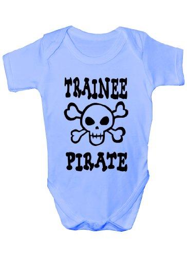 Trainee Body pour bébé Motif pirate/crâne et os croisés - Bleu - 12-18 mois