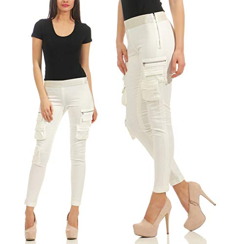 PINKO Xenon Skinny Drill Superstretch Jeans Leggings lange Hose Weiss EXCLUSIVE Leggins Stretch (26 / S)