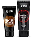 Beardo Activated Charcoal Peel Off Mask and Beardo De-Tan Face Wash Combo (Pack of 2) | Made in India