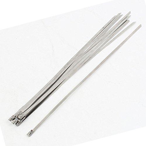 Sujetacables Uxcell de acero inoxidable para manguera y tubos de 300 x...