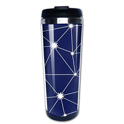 Constelación de patrones sin fisuras café taza de viaje tazas de café con tapas taza de acero inoxidable para hombres mujeres