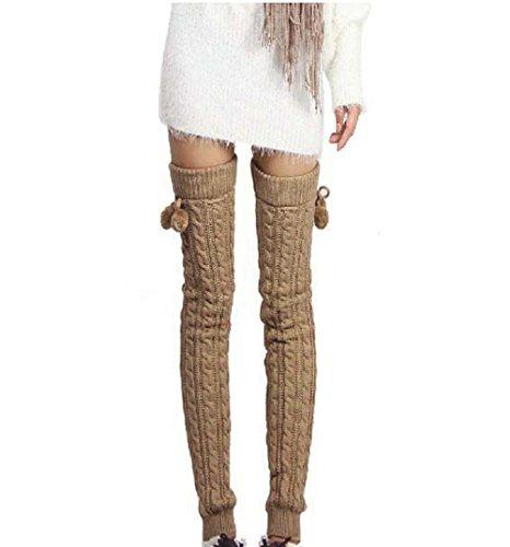 Calentadores Butterme Extra Grueso y Largo Crochet Knee - 65 Cm