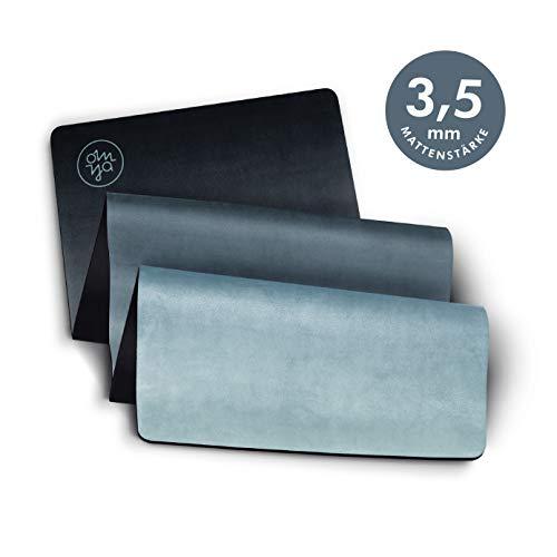 OM YA Design Yogamatte - rutschfest - extra dick - 3,5 mm - ökologisch aus Naturkautschuk - Oberfläche Mikrofaser - Ideal für Hot Yoga, Bikram, Pilates, Ashtanga (Terracotta Blush)