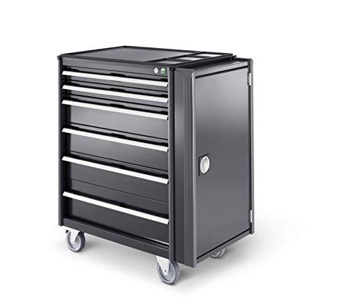 Werkstattwagen mit 7 Schubladen, Kunststoffauflage, perfo-Lochplatte