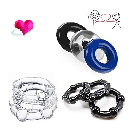 Set di anelli per uomo in silicone morbido di grande valore (set di 9)