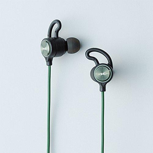 ラディウス radius HP-G100BT ワイヤレスイヤホン : Ne Bluetooth対応 ブルートゥース イヤホン 重低音モデル aptX スポーツ IPX7 防水 HP-G100BTG (グリーン)
