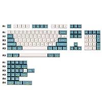 PCアクセサリ 134キー黄青キーキャップのMXスイッチメカニカルキーボードゲームデコレーションキーキャッププロフィールABSキーキャップ キーボードカバー (Color : Keycaps set2)