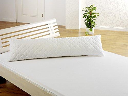 f.a.n. frankenstolz schlafkomfort 'Seitenschläferkissen glatt 40x120 cm', weiß