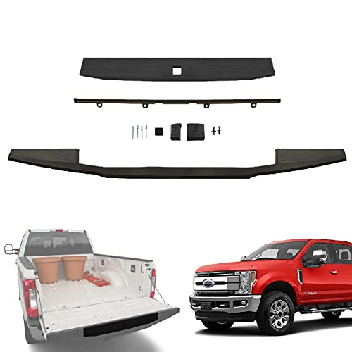 IAMAUTO 66144 Integrated Step Flex Flexible Complete Tailgate Cap Molding Kit for 2017 2018 2019 2020 Ford Super Duty F250 F350