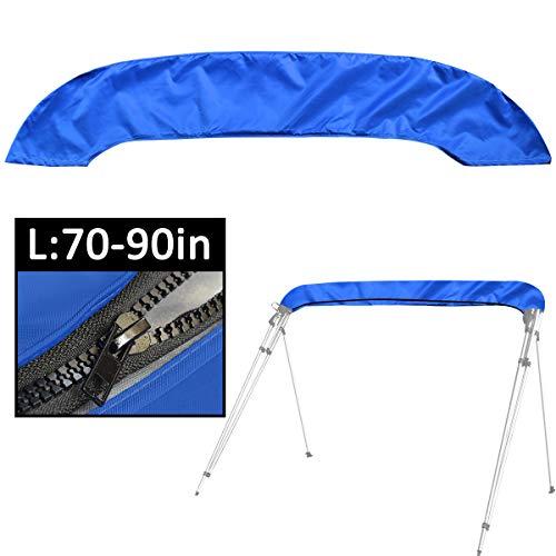 Funda Bimini con Cremallera,Adaptable a Todo Tipo de toldos Bimini de 3 y 4 Arcos,evita eficazmente la erosión de los rayos UV, el agua del mar y la brisa del mar en verano (azul L:70-90IN)