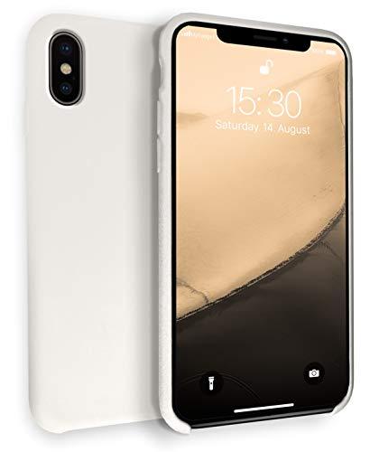 MyGadget Hülle Gummiert für Apple iPhone XS/X - Schutzhülle Hülle mit Soft Touch Silikon Finish - Slim Schutz Handyhülle Cover Stoßfest in Pastell Creme