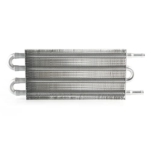 SUIDSFKDFJS Kit Enfriador de Aceite Universal con 4 Escapes en aleación de Aluminio, Reduce la Temperatura del Aceite de la Caja de Cambios y prolonga la Vida de la Caja de Cambios.