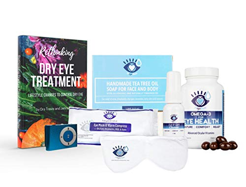 Rethinking Dry Eye Treatment Paperback Book by DRS. Jenna and Travis Zigler from The Dry Eye Show (Book, Audio Book Mp3 Player, and Eye Relief Kit)