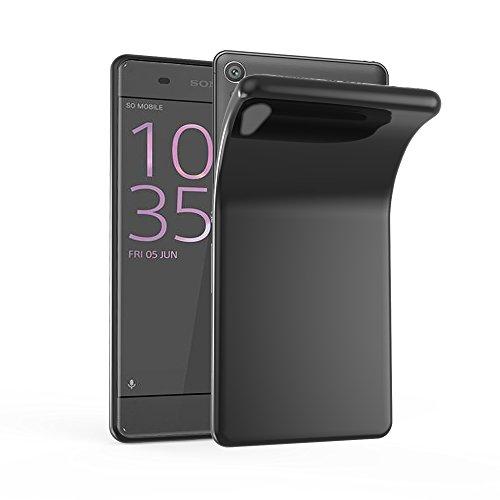 Cadorabo Hülle für Sony Xperia XA1 Ultra in SCHWARZ - Handyhülle aus flexiblem TPU Silikon - Silikonhülle Schutzhülle Ultra Slim Soft Back Cover Hülle Bumper