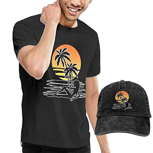 huatongxin Sunset Palm Trees - Conjunto de Camiseta y...