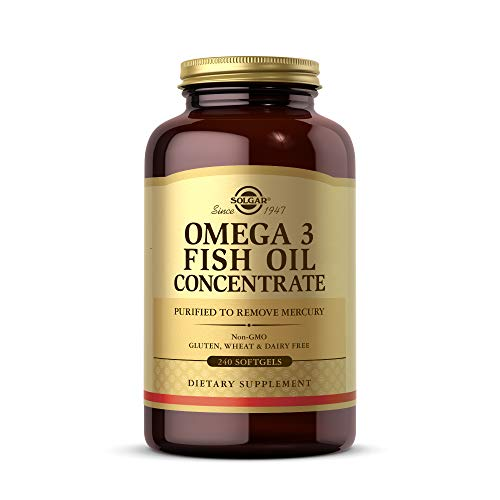 Solgar Omega-3 Fish Oil Concentrate, 240 Softgels - Support for Cardiovascular, Joint & Brain Health...