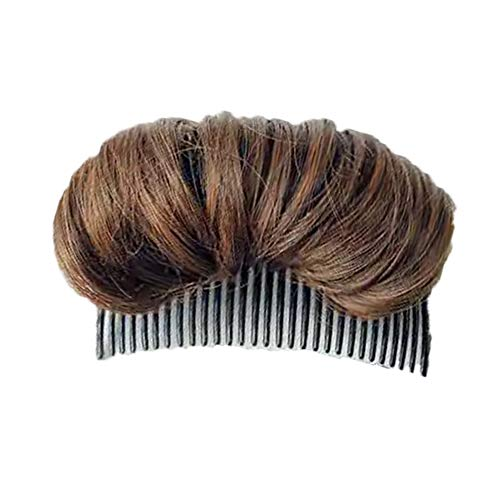 Weiba Hair Bun - Invisible False Hair Clip, Hair Base Bump Styling Insert Tool Volume Fluffy Princess Styling Increased Hair Pad(light brown)