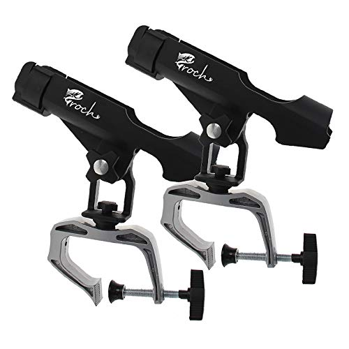 Croch Fishing Rod Holder Boat Rods Holder Folding Holder with Large Clamp Opening 360 Degree Adjustable Fishing Rod Racks Fishing Rod Holder 2 pcs