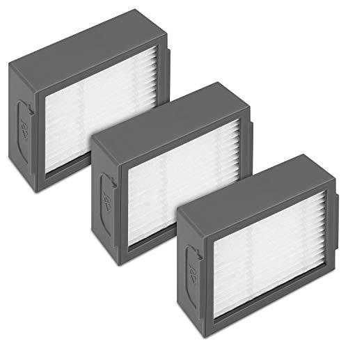 kwmobile Set de 3 filtros de Repuesto compatibles con Roomba - e5 / i7 / i7+ - Accesorios y recambios de filtros para Robot Aspirador