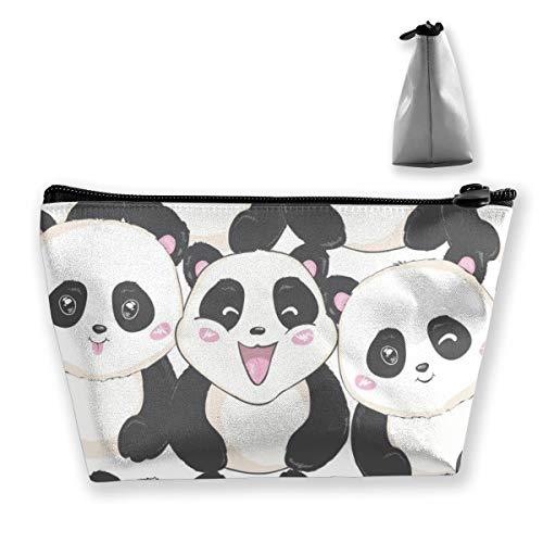 Multi-Functional Print Trapezoidal Storage Bag for Female Panda Pattern