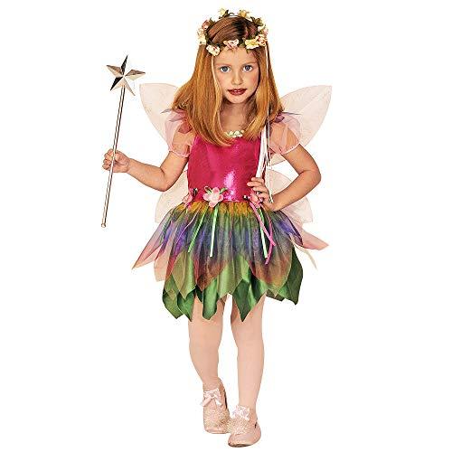 Widmann 55578 - Kinderkostüm Regenbogenfee, Kleid und Flügel