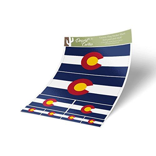Colorado CO State Flag Sticker Decal Variety Size Pack 8 Total Pieces Kids Logo Scrapbook Car Vinyl Window Bumper Laptop V