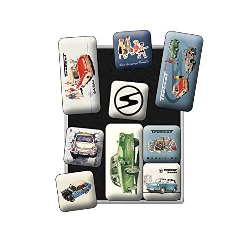 Nostalgic Art Retro Kühlschrank Magnet-Set 9-teilig, Magnetset für Magnettafel, Bunt, 9 Stück