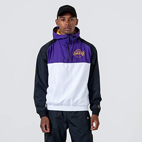 New Era Herren Los Angeles Lakers Windjacke, White, XL