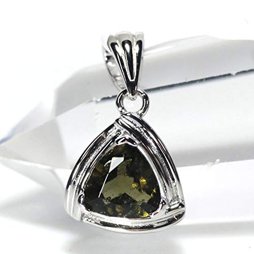 【石流通センター】 【ペンダント】 モルダバイト 三角形 (sv925) 天然石 パワーストーン