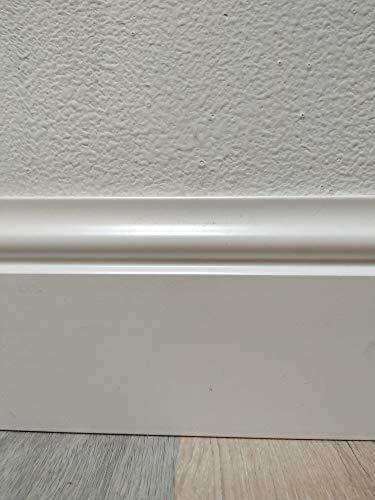 Rodapie lacado en blanco modelo galaxy de 13cm de altura x 1,6 cm de grosor x 220cm de largo