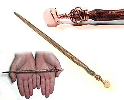 Rose Quartz Oak Magic Wand from Merlin's Realm