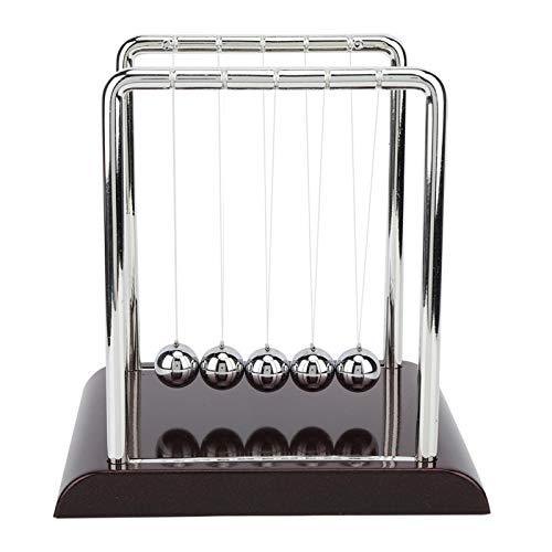 Cuna de Newton: demuestre las leyes de Newton con bolas oscilantes Física Ciencia Decoración de escritorio de oficina(Large square billiard ball)