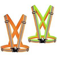 2-Pack Chiwo High Visibility Adjustable Reflective Vest