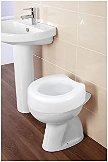 FERIDRAS Comfort Asiento Elevador para Asiento de Inodoro Universal, Blanco, 17x 40x 40cm