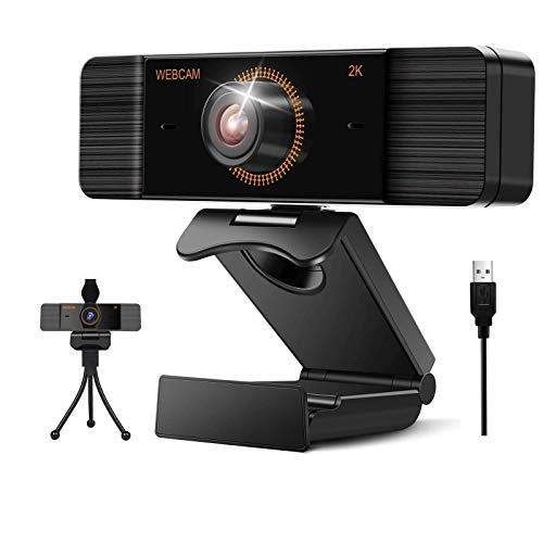 Aode 2K Full HD Webcam mit Mikrofon Web Kamera fur PC USB Webcam mit Stativ fur Mac Laptop Computer Desktop Windows Linux fur Live Streaming Videoanruf Konferenz Spiel Xbox Skype Online Unterricht