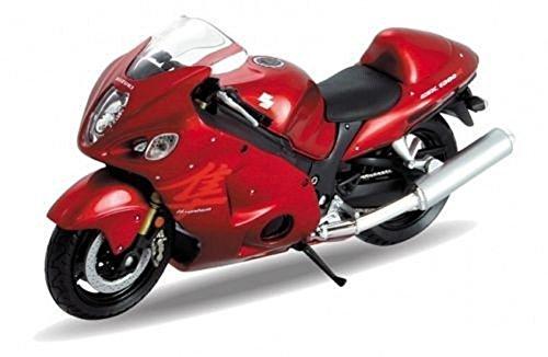 "Welly DieCast Model Motorcycle SUZUKI HAYABUSA red metal 1:18 4.3"""