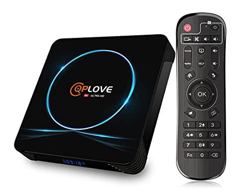 Box TV Android 11.0, 8 GB di RAM 64 GB Rom QPLOVE Android TV Box, RK3566 Quad Core Cortex A55 CPU Mali-G52 GPU UHD 2.4G 5G WiFi 1000 M LAN BT4.2 USB3.0 8K Smart Android Box