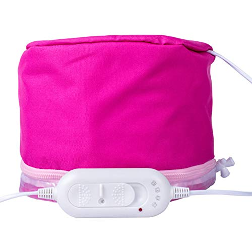 Hair Steamer Cap Gorro de SPA para Cuidado del Cabello Tapa Mascarilla eléctrica Aceite para Hornear Tratamiento térmico Protección del Control de la Temperatura Tapa del vaporizador 220 v,2pieces