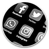Impresionantes pegatinas de vinilo (juego de 2) 30 cm BW – aplicaciones de pantalla social para teléfonos móviles, tabletas, equipaje, libros de recortes, neveras, regalo genial #37006