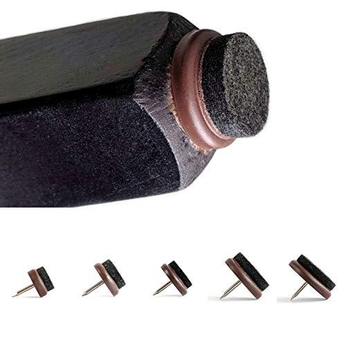 Möbelschieber. Nagel in Filzgleitern für Massivholzböden & Laminatböden, 17mm 21mm 24mm 32mm Durchmesser Made in Germany (21mm Durchmesser, 24 Stück)