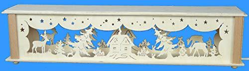 Verlichte bokkenverhoging met bosdieren en huisjes grootte = 52 x 10 cm NIEUW Ertsgebergte accessoires lichtboog