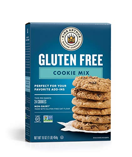 King Arthur, Gluten-Free Cookie Mix, Gluten-Free, Non-GMO Project Verified, Certified Kosher, Non-Dairy, 16 Ounces (Packaging May Vary)