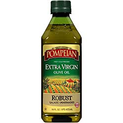 Pompeian Robust Extra Virgin Olive Oil, First Cold Pressed, Full-Bodied Flavor, Perfect for Salad Dr
