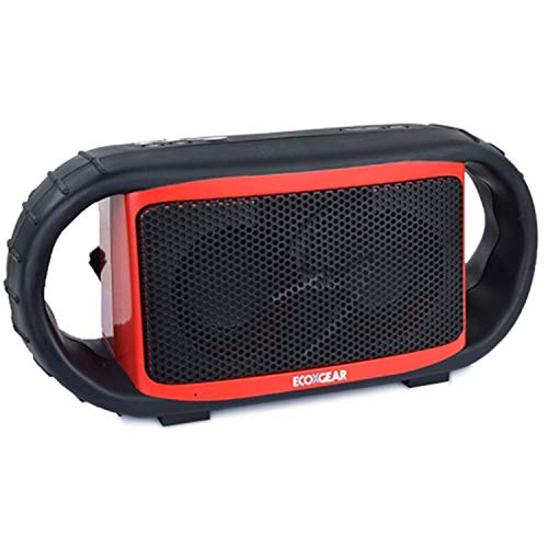 ECOXGEAR ECOXBT Rugged and Waterproof Wireless Bluetooth Speaker (Red) (Certified Refurbished)