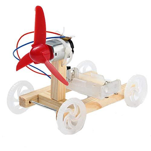 MING-MCZ Duradero Bricolaje Tecnología invención de un Solo ala 3pcs Viento Asamblea del Modelo del Coche del Kit Fácil de Montar