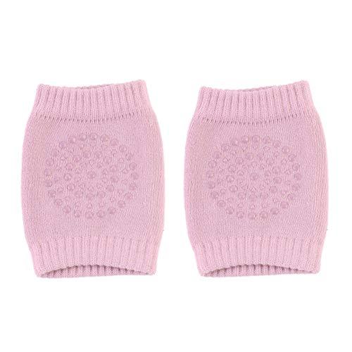 JKCKHA 1 par for bebé Las rodillas del niño de la pierna del bebé del protector de la rodilla antideslizante for rastreo de seguridad calentadores de la pierna Anti Slip de arrastre de accesorios calc