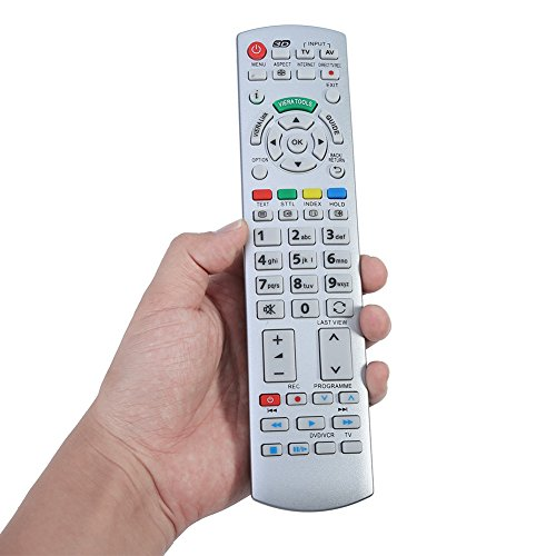 FOSA Mando a Distancia TV Digital de Teclado N2QAYB000504, Control Remoto para Panasonic Smart TV N2QAYB000504 N2QAYB000673 N2QAYB000785 TX-L37EW30 TX-L42ES31